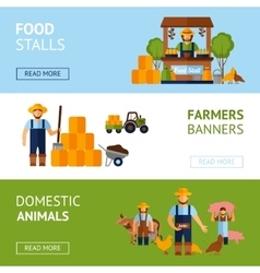 Farmers banner set vector
