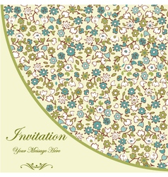 Floral Invitation Template vector image vector image