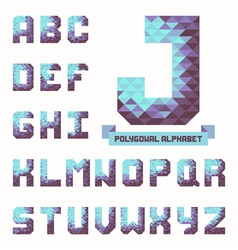 Full polygonal triangular alphabet vector