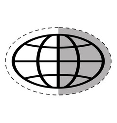 Globe school thin line vector