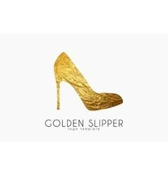 Golden slipper princess slipper elegant slipper vector