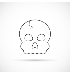 Halloween skull outline icon vector
