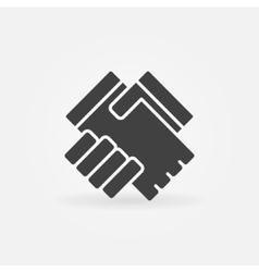 Handshake icon or logo vector
