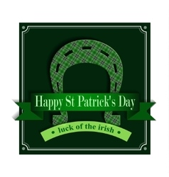 Happy St Patricks Day Lucky Horseshoe vector image