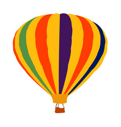 isolated air balloon vector image vector image