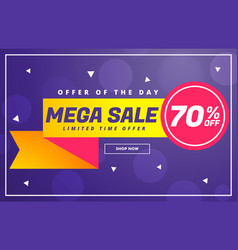 Modern mega sale discount voucher template design vector