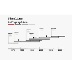 Monochrome timeline infographic vector