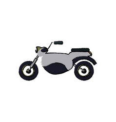 Motorcycle speed vehicle transport icon vector