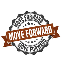Move forward stamp sign seal vector