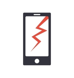 Phone broken simple icon vector