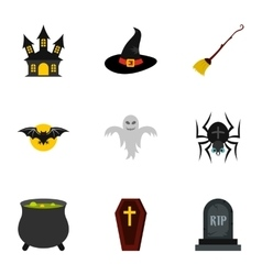 Resurrection of dead icons set flat style vector