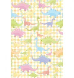 seamless pattern of cute dino vector image vector image