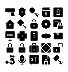 Security Icons 1 vector image vector image