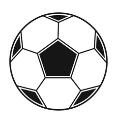 Soccer ball icon in black style isolated on white vector image
