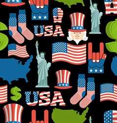 America symbols patriotic pattern usa national vector