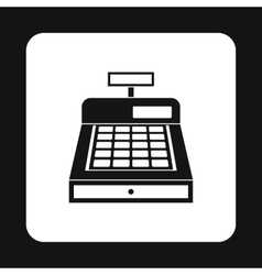 Sale cash register icon simple style vector