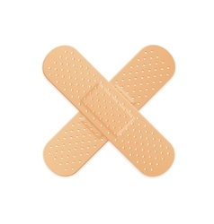 Aid band plaster strip medical patch vector