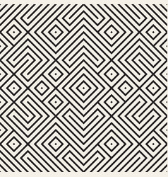 geometric ethnic background with symmetric lines vector image