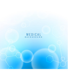 Medical science background with particles vector