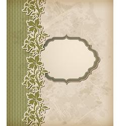 green vintage background vector image