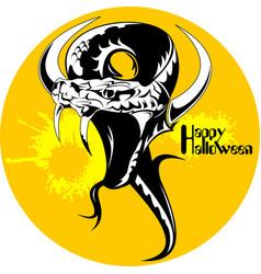 Black snake halloween vector