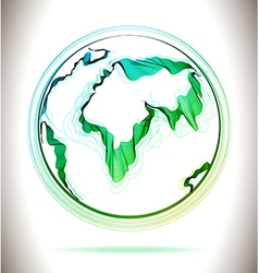 Globe green abstract icon vector
