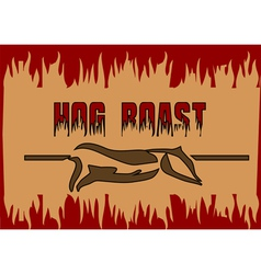 Hog roast vector