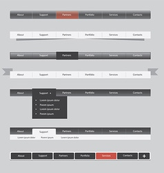 website menu vector image