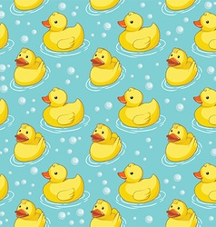 Rubber duck pattern vector