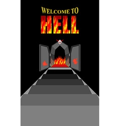 Welcome to hell stairway to hell iron black gates vector