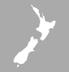 Map of new zealand vector
