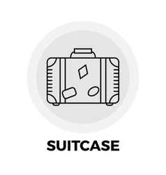Suitcase line icon vector