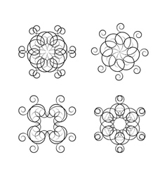 A set of circular ornaments vector