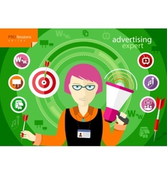 Advertising expert of marketing profession series vector