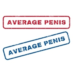 Average Penis Rubber Stamps vector image vector image