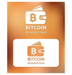 bitcoin accepted vector image vector image
