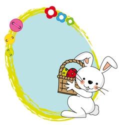 Easter bunny spring framework vector