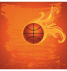 Fire Basketball Ball2 vector image