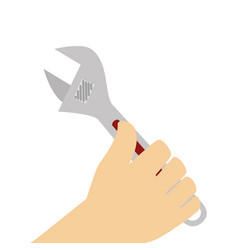 hand human with wrench tool isolated icon vector image