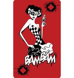 Joker card design vector