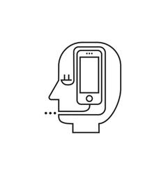 Man smartphone icon vector image vector image