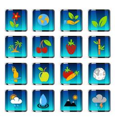 Nature icon set vector