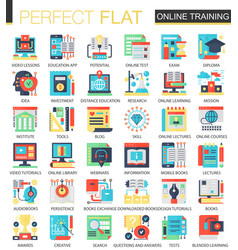 online education complex flat icon concept vector image vector image