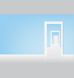 Open the door to the light vector