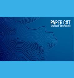 paper cut banner concept paper carve blue vector image