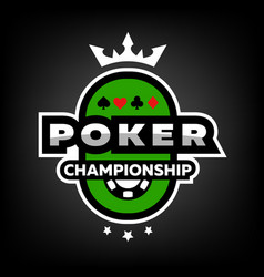 Poker championship logo emblem vector