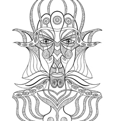 Portrait of a demon in abstract style vector