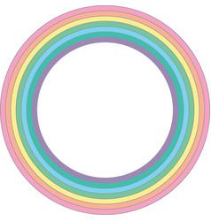 Rainbow pastel circle - element vector