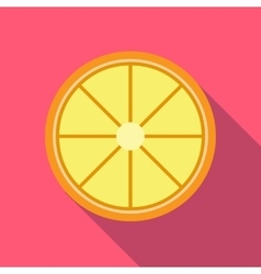 Slice lemon icon flat style vector image vector image
