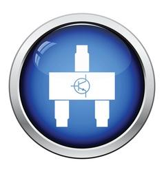 Smd transistor icon vector image vector image